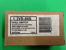 Nutone VS-86S WALL SWITCH DUAL ON-OFF CONTROL FOR NUTONE