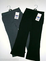 GIRLS BLACK & GREY SCHOOL TROUSERS WITH ELASTICATED WAIST.from2-3 to 11-12 YEARS