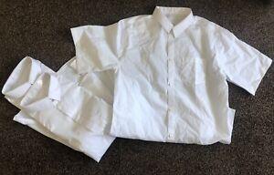 3 x boys white school shirts short sleeve 16 years TU new no tags