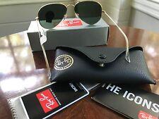Ray Ban Aviator Sunglasses ORB3025-3N-GOLD Frame-Silver Mirror 58mm Lenses