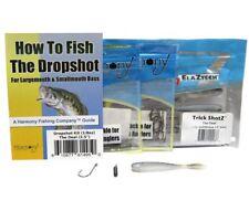 Harmony Dropshot Bass Fishing Kit 1/8oz Tungsten Dropshot Weights (6pk) +...