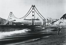 THE CONSTRUCTION OF THE GOLDEN GATE BRIDGE SAN FRANCISCO PHOTOGRAPH ART PRINT