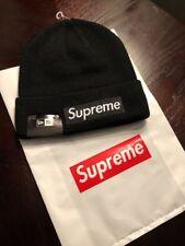 New Supreme Beanie New Era Classic Box Logo Winter Hat Black World Famous F/W 16
