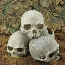 Aquarium Resin Human Head Skull Fish Tank Ornament Terrarium Reptile Decorations