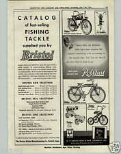 1951 PAPER AD Hopalong Cassidy Rollfast Bicycle Balloon Tire Deluxe Tricycle