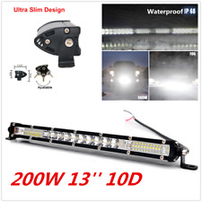 1x 200W 13'' Adjustable Car 10D Waterproof LED Work Light Bar Driving Fog Light