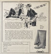 1939 AD.(XH3)~HOOD RUBBER CO. WATERTOWN, MASS. HOOD SPORTSMAN FISHING BOOTS