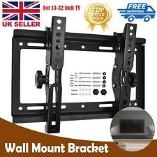 """Universal TILT TV WALL BRACKET MOUNT 13 -32"""" inch 75x75 200x200mm Holder Stand"""