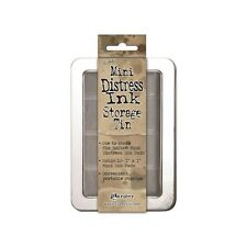 Tim Holtz ~ DISTRESS MINI INKS ~ Storage Tin ~ Holds 12 Pads ~ Ranger