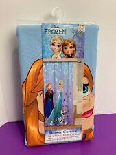 "Disney Frozen Shower Curtain Fabric Anna Elsa Olaf 72"" x 72"" in NEW"