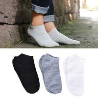 3Pairs Sport Men Socks Breathable Fitted Ankle Socks Short Socks Slippers Me QN
