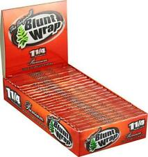 """Blunt Wrap The Original 1 1/4"""" Rolling Papers X 4 Packs,New"""