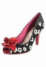 Poetic Licence Peep Toe Slim Textile Heels for Women