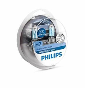 Philips 12972WVUSM WhiteVision Ultra Effet xénon H7 Eclairage Avant 4.200K Auto