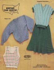 Newton's Knits Sweater Top Skirt Vest Machine Knitting Patterns Vintage