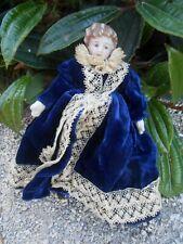 Ancienne poupée miniature tête porcelaine époque XXème état grenier !