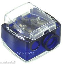 Tweezerman Deluxe BLUE Cosmetic/Make Up SHARPENER For Eyeliner Pencils & Crayons