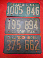 Illinois License Plates 1942, 1943, 1944 Soybean Cardboard