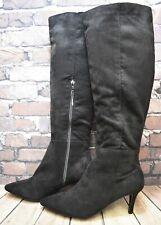 Womens New Look Black Zip Fastening Mid Heel Knee High Boots Size UK 6 EUR 39