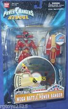 Power Rangers Lightspeed Rescue Red Mega Battle Power Ranger New w CD Rom