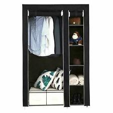 "67"" Portable Closet Storage Organizer Clothes Wardrobe Shoe Rack W/6 Shelf Black"