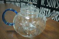 Fellini La Bleu Glass Teapot with Infuser | 40 oz | 1200ML