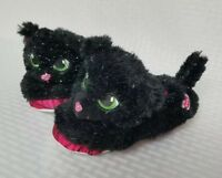 Build A Bear Medium 12-13 Girls House Slippers Black Magical Girls Pink Nonslip