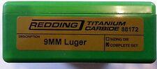 88172 REDDING 9MM LUGER TITANIUM CARBIDE 3-DIE SET - BRAND NEW - FREE SHIPPING!