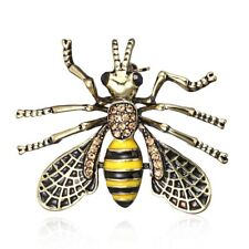 Fashion Animal Bee Honeybee Crystal Brooch Pin Women Custume Jewelry Gift