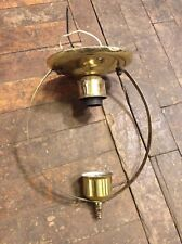Antique Vintage Brass Mid Century Modern Hoop Flush Mount Light