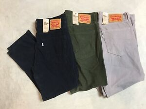 new mens levis 502 straight taper stretch pants corduroy gray green black red