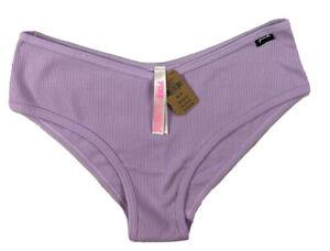 Victoria's Secret Pink  Cotton Cheekster  V Shape Ribbed Bikini Size Medium