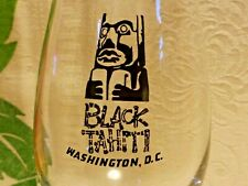 Black Tahiti Washington DC Hurricane Glass Tiki Bar CLOSED