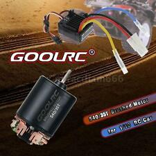 540 35T 4 Poles Motor & WP-1060-RTR 60A ESC with 5V/2A BEC for 1/10 RC Car C7S5