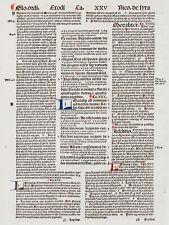 Original Inkunabel 1498 Biblia cum glossa ordinaria W. Strabonis .. 305 x 220 mm