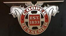 Vintage Cooper Bessemer Est 1833 Engine Sign