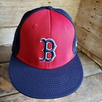 Boston Red Sox Strapback Hat MLB OC Sports Baseball Cap Blue Red Team Logo