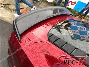 CJ Style Carbon Fiber Trunk Spoiler Wing For 15-19 Mustang 2.3 V6 GT Shelby