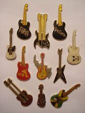 SALE VINTAGE ELECTRIC GUITAR FENDER GIBSON ROCK MUSIC PIN BADGE JOB LOT BUNDLE
