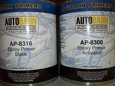 Epoxy Primer Sealer and Catalyst Black 2 Gallon Kit Direct to Metal Car Auto Kit