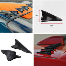 10PC Vortex Generator 3D Shark Fin Jet Rear Roof Wing Spoiler Diffuser Universal