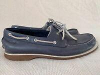 Clarks men's shoes Size 9 real leather boots blue EU 43