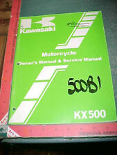 KAWASAKI KX500-B1 ORIGINAL MOTORCYCLE OWNERS & SERVICE MANUAL excellent