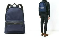 MICHAEL KORS KENT INDIGO BLUE TECH NYLON & LEATHER BACKPACK BOOKBAG NEW