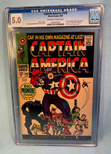 Captain America 100 CGC 5.0 Marvel Comics 1st Issue Black Panther Appearance