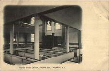 Wickford RI Church Interior c1910 Postcard