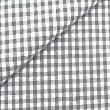 0,5m Stoff Vichy-Karo grau/weiß Baumwolle Meterware 140cm breit
