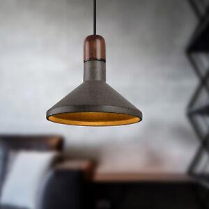 Modern Industrial Wooden Pendant Light Concrete Kitchen Chandelier Ceiling Light