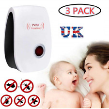 Ultrasonic Pest Repellent 3 pack Electronic Plug In Repellent Mouse Control