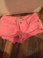 Pink Denim Topshop Shorts Size W28 Excellent Condition
